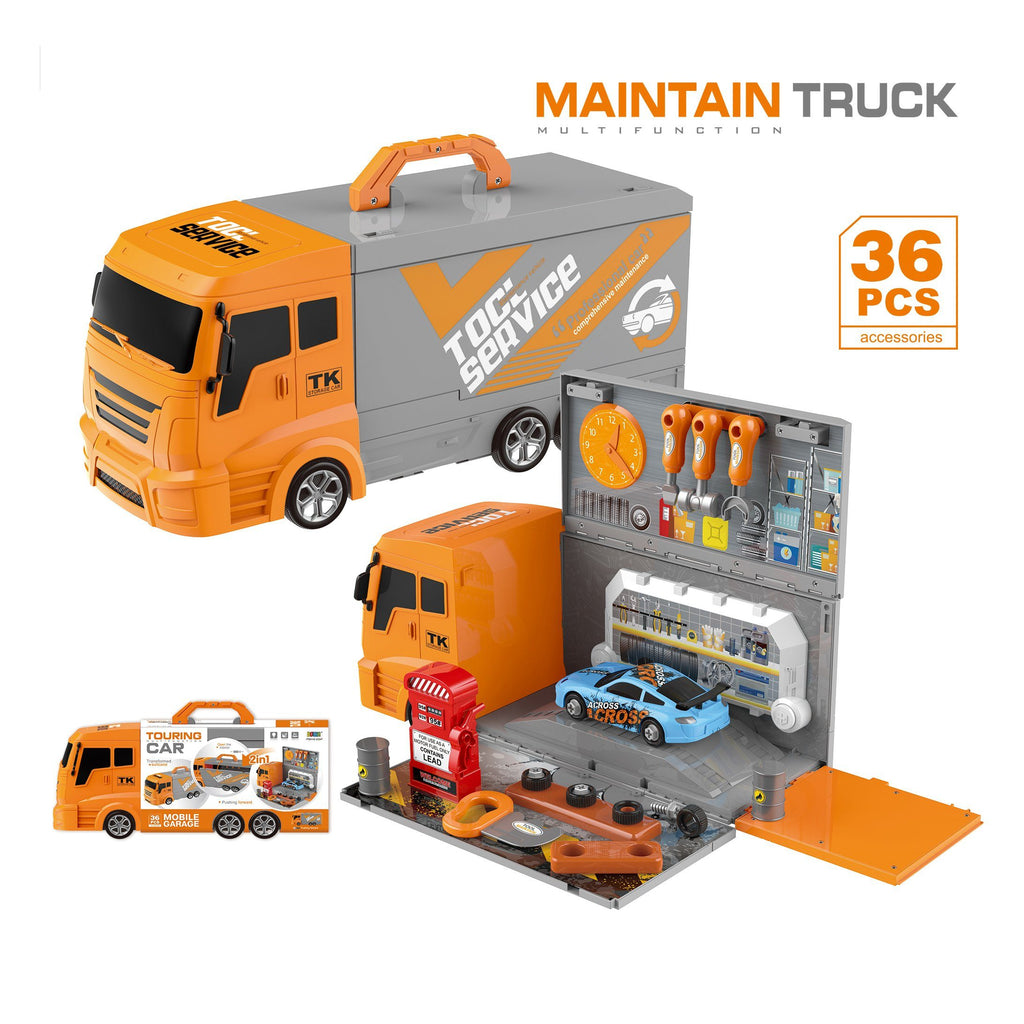 Mobile truck for car service pretending play toy