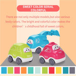Cute baby cars in different colours