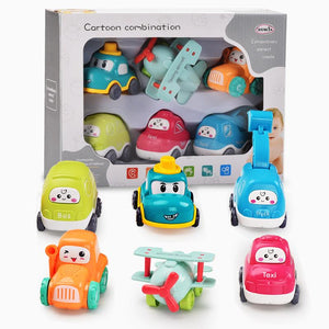 Cute baby cars and airplane toys