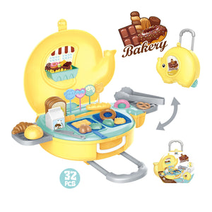 Hand carry bakery kitchen pretend play toys