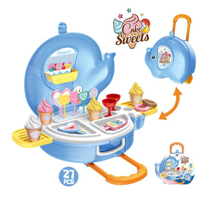 Hand carry ice cream kitchen pretend play toys