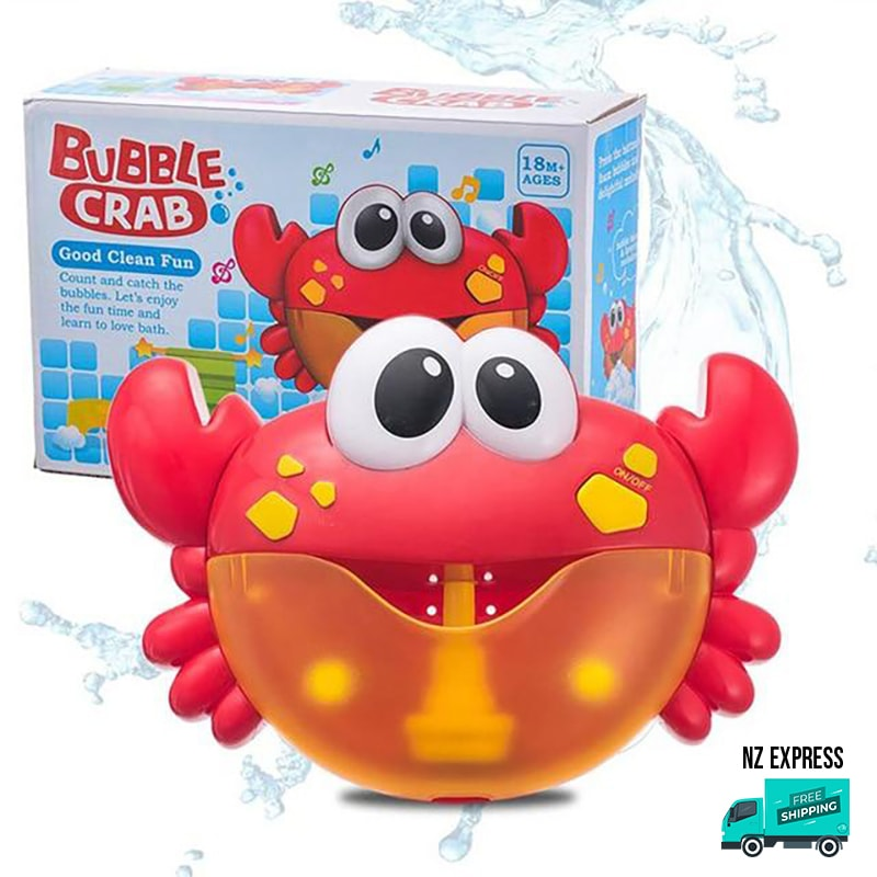 Crab bubble water bath toy with music in box packaging