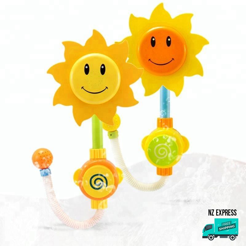 Actual sunflower water sprinkler bath tub toy