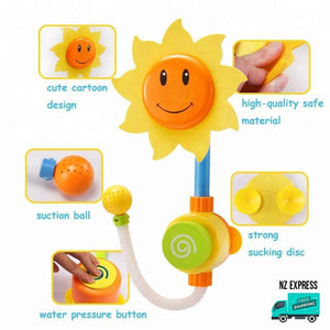 Sunflower water sprinkler bath tub toy details