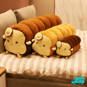 White Bread Stuffed Soft Pillows showing different sizes