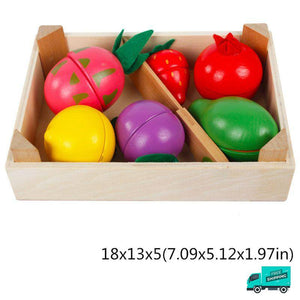 Wooden Cutting Fruit Vegetable Toys Set My Toy Hub