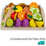 Wooden Cutting Fruit Vegetable Toys Set B