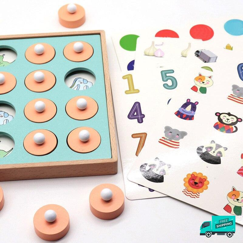 Wooden Memory Board Game with different pictures