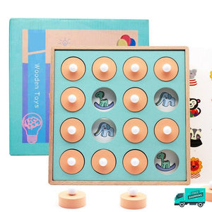 Wooden Memory Board Game with box