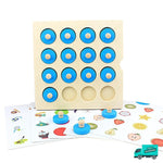 Wooden Memory Board Game front view