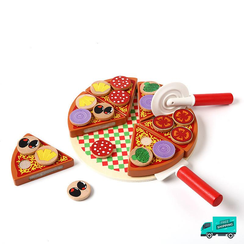 Wooden Pizza Toy Set Design 1