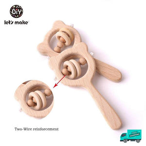 Wooden Rattle Handle Collection 3 in details
