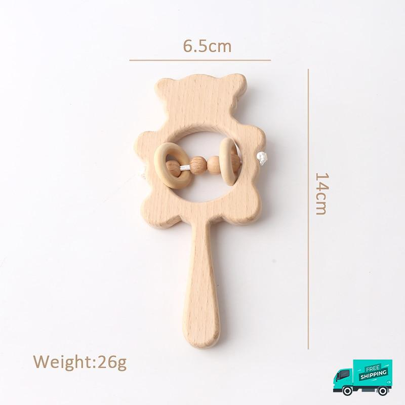 Wooden Rattle Handle design 8