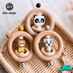 Wooden Rattle Rings Collection 1