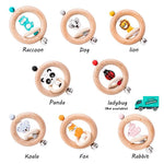 Wooden Rattle Rings Collection 1 with names