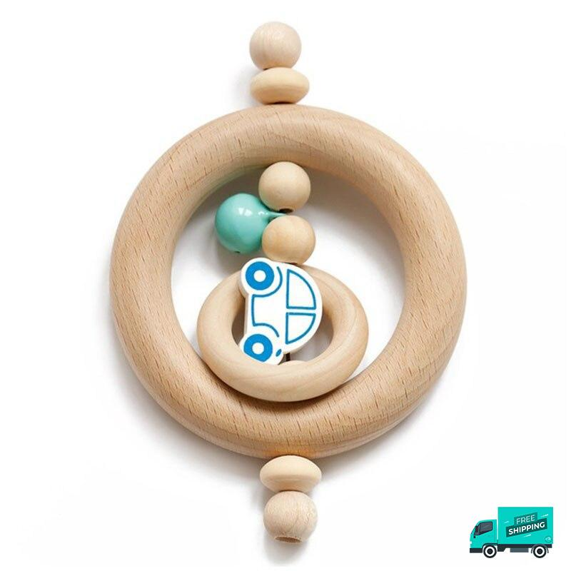 Car wooden rattle