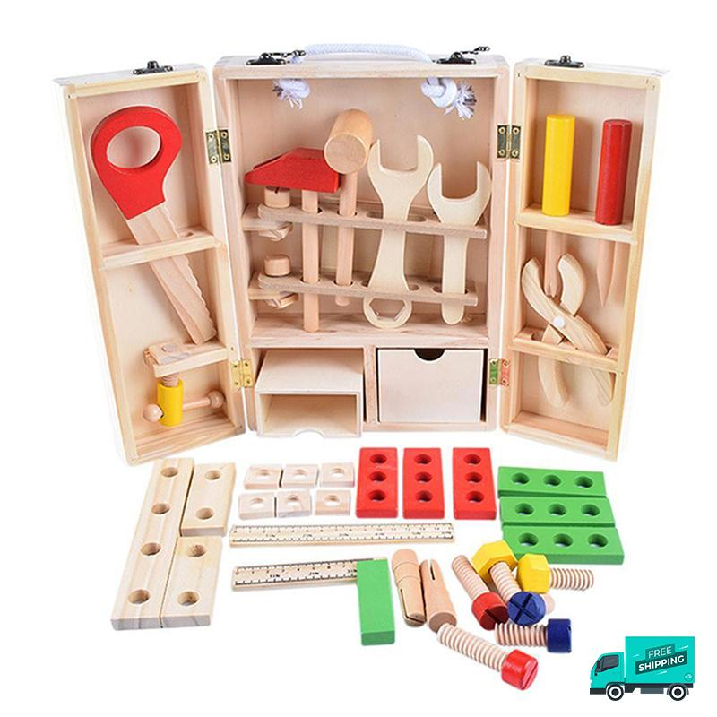Wooden Tool Box Set B