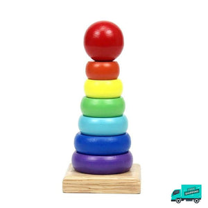 Wooden Toy Building Shape Block Tower