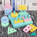 Wooden Toy Building Shape Blocks