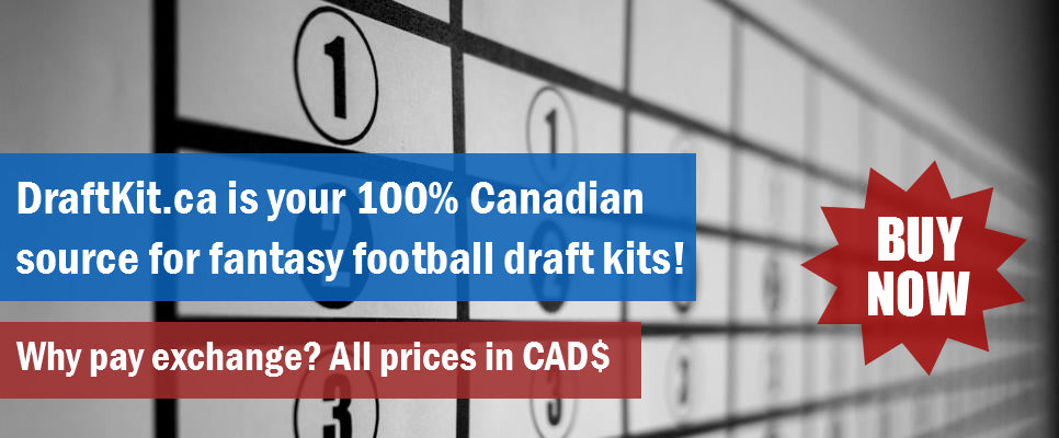 buy fantasy football draft kits and boards in Canada