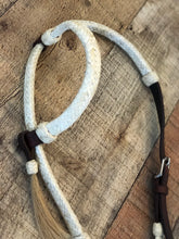 Load image into Gallery viewer, Deluxe Rawhide One Ear Headstall with Fancy Stone Concho // Natural