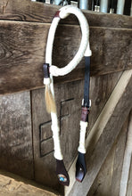 Load image into Gallery viewer, Rawhide Headstall with Fancy Concho // Natural