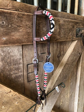 "Load image into Gallery viewer, ""Midnight Ruby"" Beaded Tack Set"