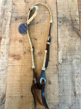 Load image into Gallery viewer, Deluxe Rawhide Leather One Ear Headstall - Natural Rawhide