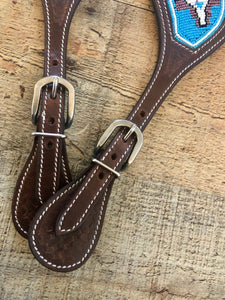 """Turquoise Dreams"" Beaded Western Spur Straps"
