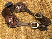 "Load image into Gallery viewer, ""Metallic Mocha"" Beaded Western Spur Straps"
