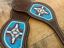 "Load image into Gallery viewer, ""Turquoise Dreams"" Beaded Western Spur Straps"