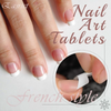 Glue-On French Nail Art Tablets (100 pcs)