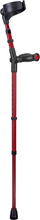 Load image into Gallery viewer, german ossenberg high-quality forearm crutches with closed cuff and anatomic soft handgrips. Color: red