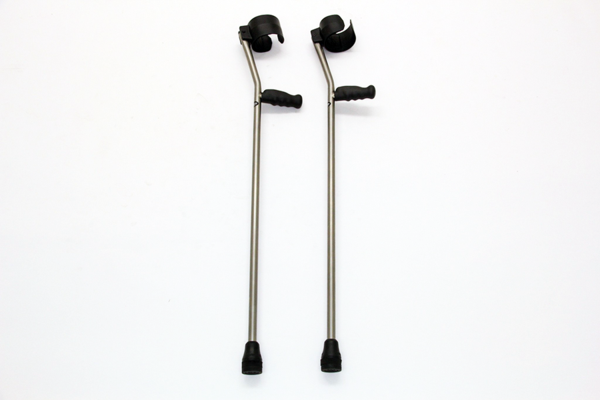 enabling tech custom titanium forearm crutches in grey