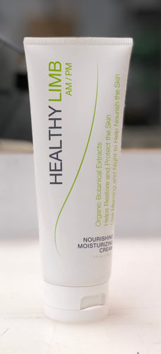 a tube of Healthy Limb cream, a moisturizing and nourishing lotion for skin