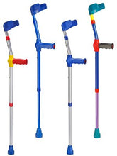 Load image into Gallery viewer, four ossenberg kiddie forearm crutches for children in several colors
