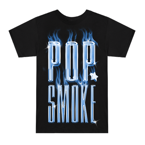 POP SMOKE FLAME LOGO T-SHIRT + DIGITAL ALBUM