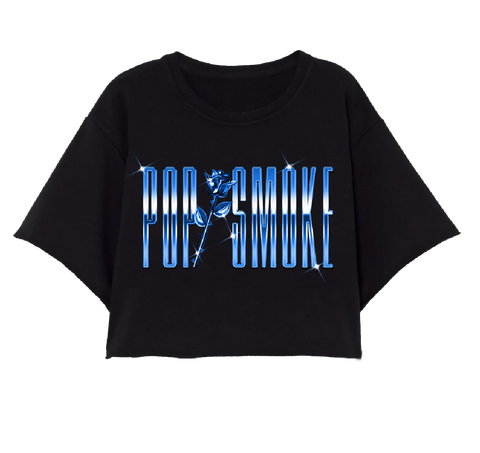 POP SMOKE GRADIENT CROP TOP