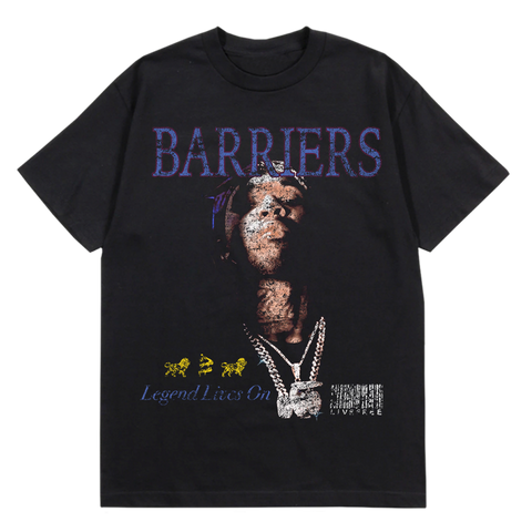 BARRIERS POP SMOKE LEGEND LIVES ON T-SHIRT
