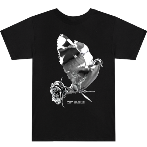 Dove + Rose Black T-Shirt