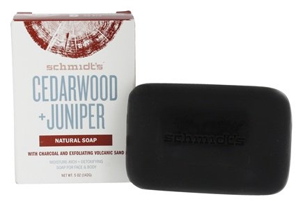 Schmidt's Naturals</br> Cedarwood + Juniper with Charcoal & Exfoliating Volcanic Sand Bar Soap
