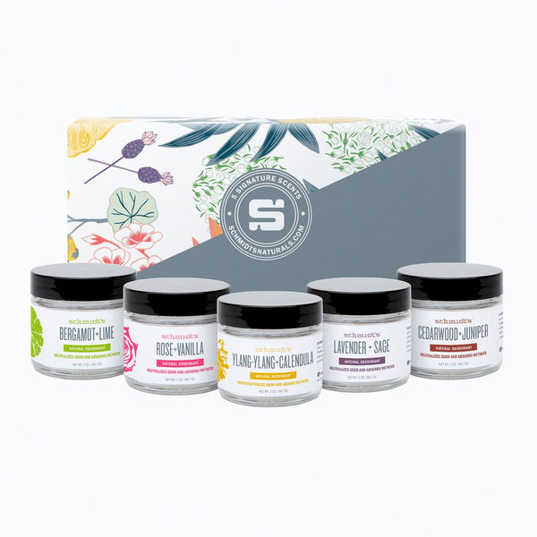 Schmidt's Naturals</br> Deodorant Jars 5-Pack (Full or Travel Size)