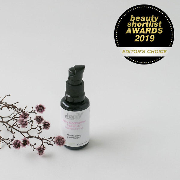 HAPPY SKINCARE</br> Fairy Godmother Serum #1 - </br>Brighten & Boost </br>(for mature skin) *Award Winning* *New*