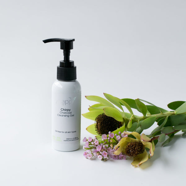 <br>HAPPY SKINCARE</br> 'Chirpy' Charcoal Cleansing Gel