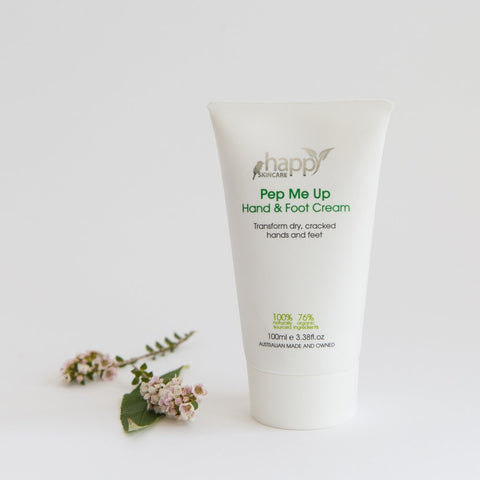 <br>HAPPY SKINCARE</br> 'Pep Me Up' Hand and Foot Cream
