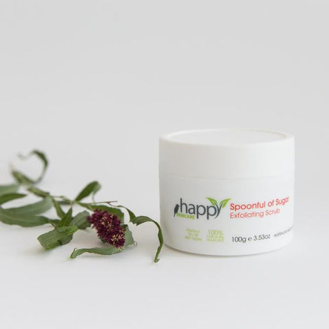 <br>HAPPY SKINCARE</br> 'Spoonful of Sugar' Exfoliating Scrub