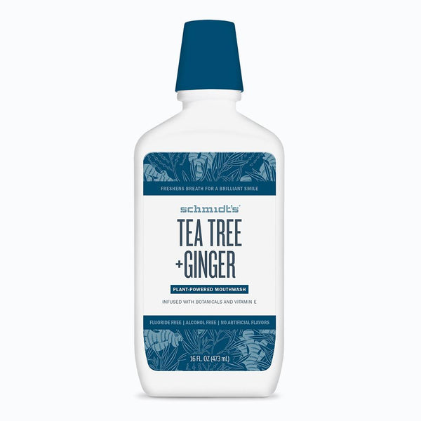 <br>Schmidt's Naturals</br> Tea Tree + Ginger Mouthwash *New*