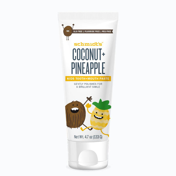 Schmidt's Naturals</br> Coconut + Pineapple Kids Tooth+Mouthpaste *New*