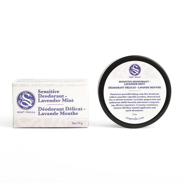 <br>Soapwalla</br> Lavender Mint Sensitive Skin Deodorant Cream