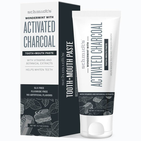 Schmidt's Naturals</br> Activated Charcoal with Wondermint Tooth+Mouthpaste